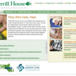 Sherrill House, a historic Boston-based skilled nursing & rehabilitation center, wanted a website makeover that would effectively present information about the organization's range of long-term care, short-term care and Alzheimer's care services.