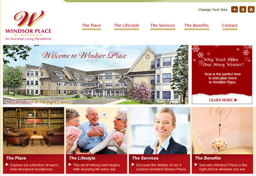 Windsor Place Turned To Stackpole Associates To Develop A Feature Rich Website For Their Sherrill House