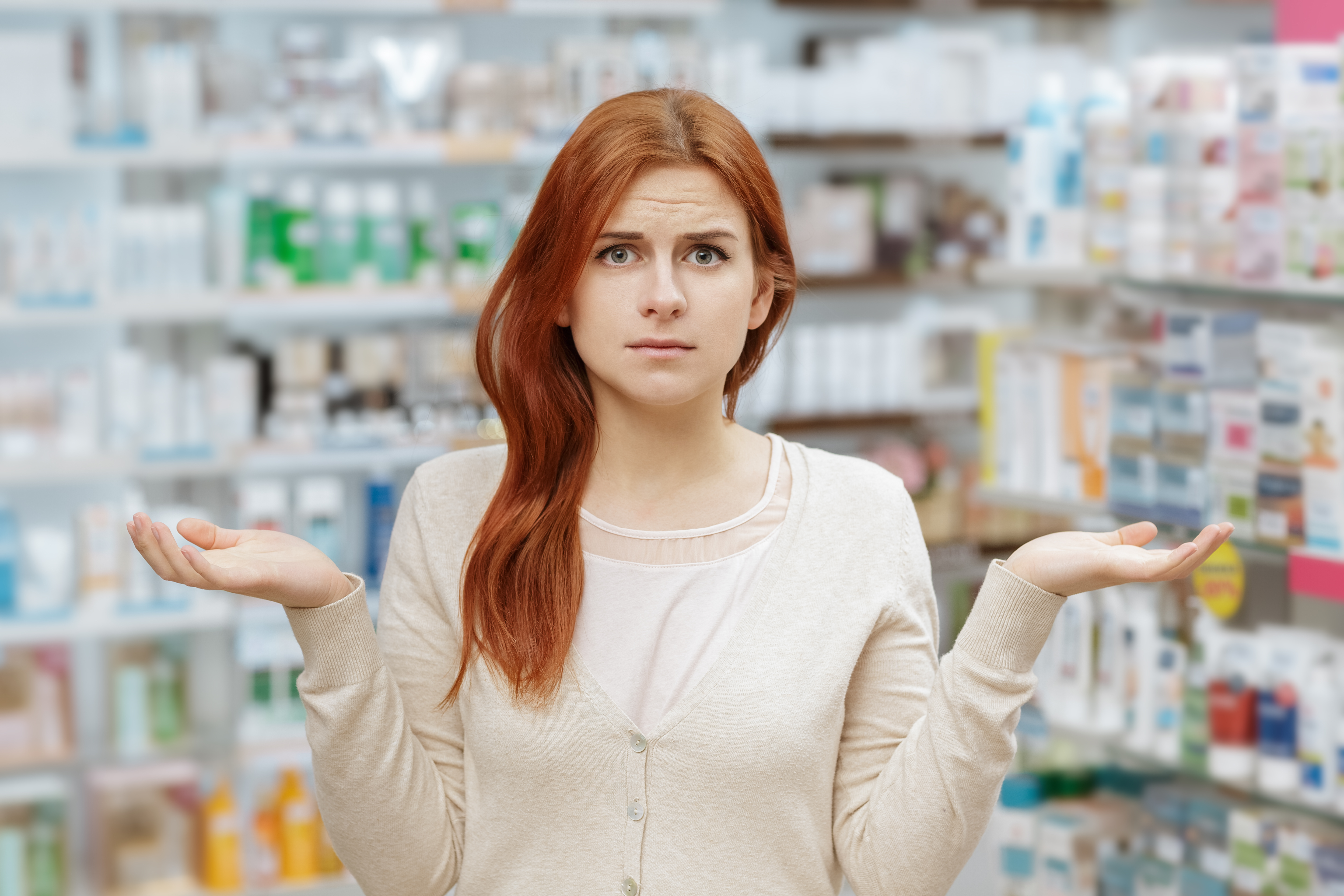 Confused healthcare shopper