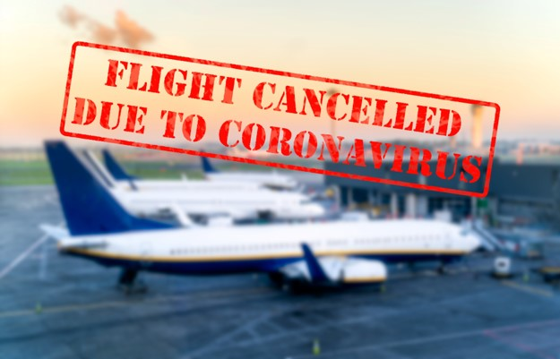 Flight canceled coronavirus